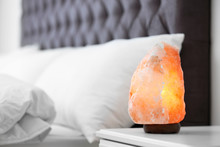 Himalayan Salt Lamp On Table I...
