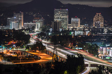 Night View Of Downtown Glendal...
