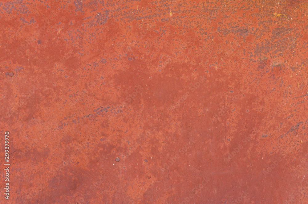 Fototapety, obrazy: Fine texture of a rusty metal surface once painted red