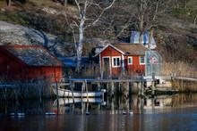 Boat, Cottage, House, Nacka Sweden, Stockholm