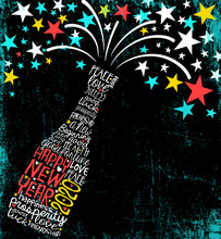 Happy New Year 2020 Design. Ab...