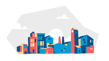 Vector Illustration Of City Bu...