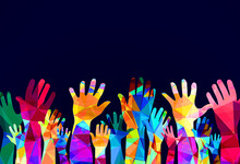 Colorful Hands Up - Happiness ...