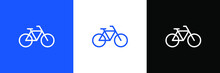 Bicycle Vector Logo Design Template Line Flat  Element Walk Eco Transport.