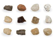Round River Stones Or Sea Pebb...