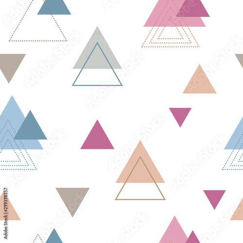 Absctract nordic triangle geometric patten design for decoration interior, print posters, card, wrapping in modern scandinavian style in vector Tableau sur Toile