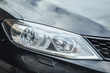 Car Headlight lamp in close up. Modern transport