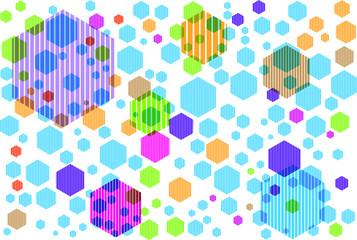 FototapetaSeamless abstract hexagons on a white background