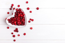 Fresh Cranberry Berries In A H...