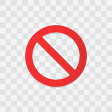 Stop Sign Icon. Vector Illustration In Flat Design