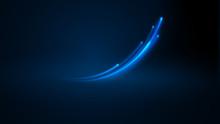 Blue Sparkling Curved Flash Wi...