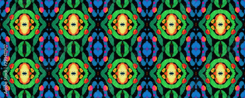 African Seamless Pattern. Canvas Print