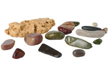 Sea Stones Collection Isolated On White Background