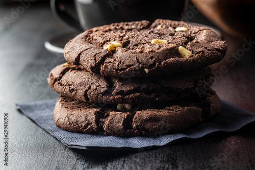Fototapeta Sweet chocolate cookies. obraz