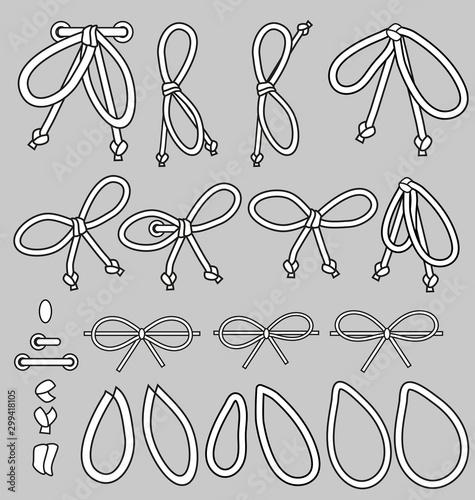 String Bow Fashion Lacing kit Tableau sur Toile
