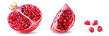 Pomegranate Fruit On A White I...