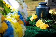 Cremation Urn At A Funeral, Wi...