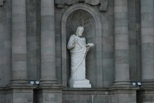 Statue Of Man In Front Of St P...