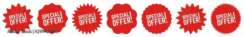 Fotomural  Special Offer Tag Red | Sale Icon | Sticker | Deal Label | Variations