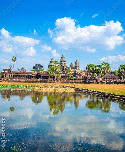 Ancient temple complex Angkor Wat, Siem Reap, Cambodia. Fototapete