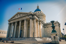 The Pantheon, Tomb Of French Most Prominent Cultural And Scientific Figures, Paris, France