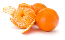 Peeled Tangerine Or Mandarin F...