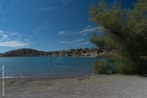 View of Bill Evans Lake near Silver City in New Mexico. Wallpaper Mural