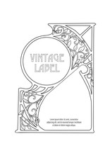 Label, Decorative Frame, Border. Good For Product Label. With Place For Text Outline Hand Drawing Vector Illustration. In Art Nouveau Style, Vintage, Old, Retro Style. Isolated On White Background..