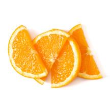 Orange Fruit Slice Layout Isol...