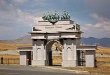 Genghis Khan Statue Complex Near Tsonjin Boldog. Mongolia