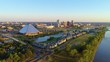 Memphis Tennessee TN Downtown Drone Skyline Aerial