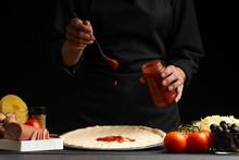 The Chef Cooks Italian Pizza, ...