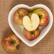 Honey Crisp Apples In A Heart ...