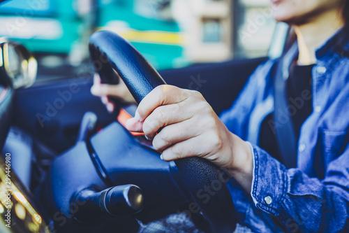 Foto auf AluDibond Grau Verkehrs 運転・ドライブ
