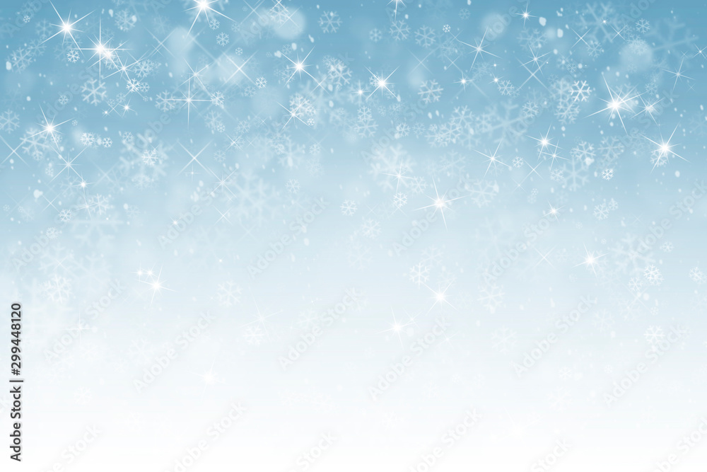 Fototapeta abstract winter background with snowflakes