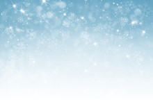Abstract Winter Background Wit...
