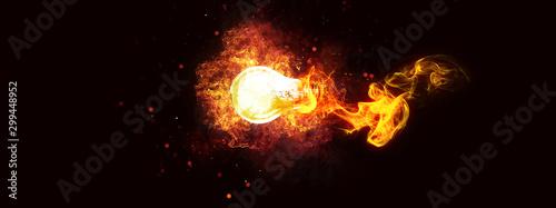 爆発する抽象的な電球 Canvas-taulu