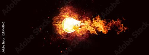 Valokuva  爆発する抽象的な電球