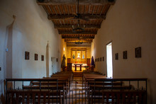 Mission San Juan Capistrano Altar In San Antonio, Texas, USA. The Mission Is A Part Of The San Antonio Missions UNESCO World Heritage Site.