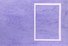 White Paper Frame On Vintage Purple Texture Background, Blank Purple Pattern Background