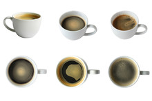 Coffee Collection In Any Angle With Clipping Path,normal And Top View