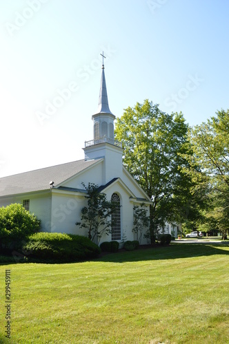 Classic White Country Church