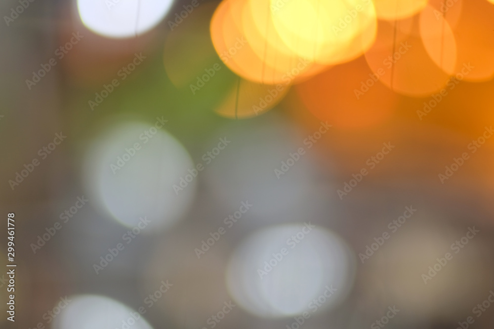 Fototapety, obrazy: Colorful bright bokeh light lens flare on blurred background with space for design .