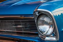 Closeup Of A Vintage Car At A ...