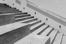 Gray Cement Stair At A Public ...