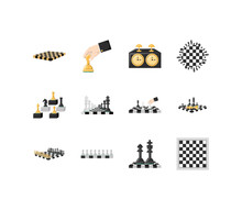Variety Chess Icon Set Pack Ve...