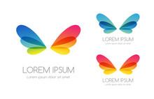 Abstract Rainbow Color Logo. C...