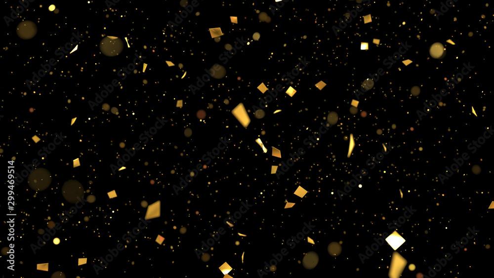 Fototapety, obrazy: golden confetti