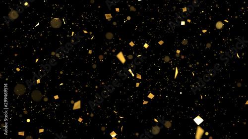 Fotografia, Obraz  golden confetti