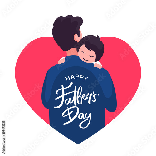 Carta da parati Happy father's day poster background template design